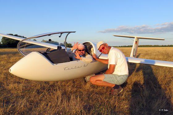 Rekordwetter für die Brandenburger Segelflieger – Matthias Kaese und Sarah Drefenstedt fliegen 1000km